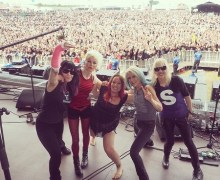 L7 Drummer Breaks Arm – Adam Ant Drummer Jola Steps In @ 2018 UK Dowload Festival