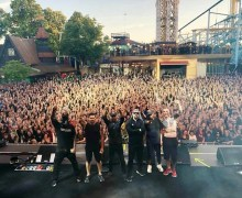 """Prophets of Rage: Tom Morello, """"Fractured my playing hand on Thursday. Will be onstage in Sweden Tuesday."""" Gröna Lund"""