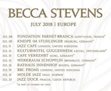 Becca Stevens 2018 Tour Launch – Saint-Louis, London, Prague – Germany, Switzerland, Norway