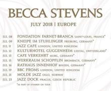 Becca Stevens 2018 Tour Launch – Saint-Louis, London, Prague – Germany, Switzerland, Norway