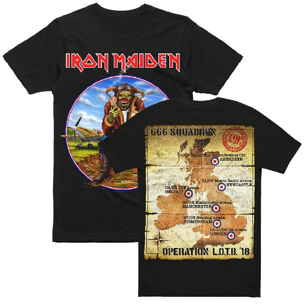 Iron Maiden 2018 UK Tour T-Shirt Announced + 'Legacy of the Beast' European Tour Book