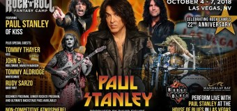 """Paul Stanley, """"Imagine – YOU…On stage…Jamming with ME in Las Vegas at House of Blues!"""" – 2018 Rock 'n' Roll Fantasy Camp"""