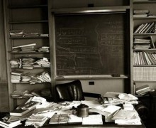 Albert Einstein:  Office Photo Taken On The Day He Died