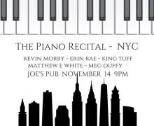 Kevin Morby in New York @ Joe's Pub The Piano Recital w/ Erin Rae King Tuff, Matthew E White, Meg Duffy