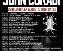 John Corabi 2019 European/UK Tour Dates Announced – Norway, Finland, Sweden, Germany, Poland