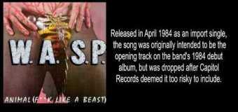 "Tony Richards Talks W.A.S.P. ""Animal (F**k like a Beast)"" Song/VIDEO – Blackie Lawless"