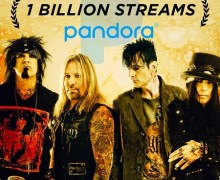 Mötley Crüe Reaches 1 Billion Streams on Pandora