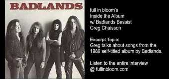 "Badlands ""High Wire"" Live 1989 ""Rumblin' Train"" via Greg Chaisson Interview Excerpt – full in bloom"