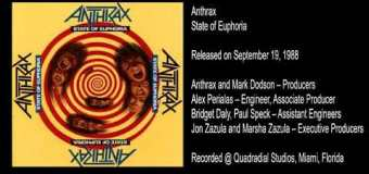 Anthrax 'State of Euphoria' – Inside the Album with Alex Perialas – full in bloom Interview Excerpt