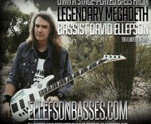 "Megadeth's David Ellefson, ""Stage-Used Basses Now For Sale Online"""