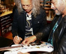 Metallica: Kirk Hammett, Robert Trujillo Sign Adrian Smith Signature Guitar – Auction