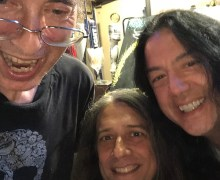 The Last Spiders & Snakes Group Selfie: Lizzie Grey, Chris Sheridan & Tim Yasui