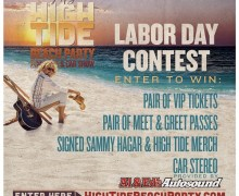 Sammy Hagar: Labor Day Contest 2019 – High Tide Beach Party & Car Show
