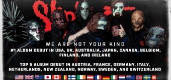 Slipknot: #1 Album Debut In USA, UK, Australia, Japan, Canada 2019 'We Are Not Your Kind'
