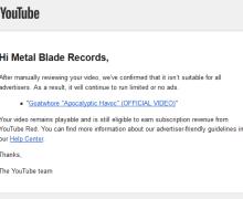 "YouTube Demonetizes Goatwhore's ""Apocalyptic Havoc"""