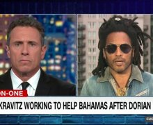 Lenny Kravitz Talks Bahamas/Hurricane Dorian on CNN  – How to Help/Donate