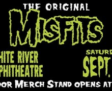 The Misfits Outdoor Merch Stand-The White River Amphitheatre-Auburn, WA 2019