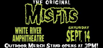 The Misfits Outdoor Merch Stand-The White River Amphitheatre-Auburn, WA 2019