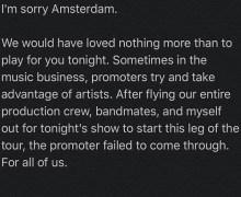 Eric Burdon: 2019 Amsterdam/Germany Tour Dates Cancelled – Dortmund, Dusseldorf, Rostock, Dresden-Gittersee, Nurnberg