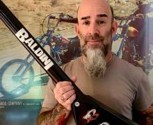"Scott Ian, ""Woke up to this masterpiece by Mike Shannon"" – Jackson Guitars – Seymour Duncan JB Pickups"