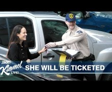 Maroon 5's Adam Levine Pranks Drivers in Los Angeles – Jimmy Kimmel Live – VIDEO