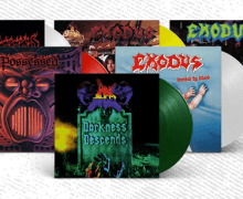 ON VINYL! Exodus-Bonded By Blood – Possessed-Seven Churches, Beyond – Dark Angel-Darkness Descends
