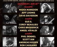 "Gus G, ""I'll Return to the NAMM Show in 2020"" w/ Corey Beaulieu, Chris Broderick & Angel Vivaldi"
