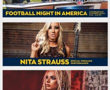 Alice Cooper Guitarist Nita Strauss to Play Sunday Night Football Theme @ Los Angeles Rams Game 2019