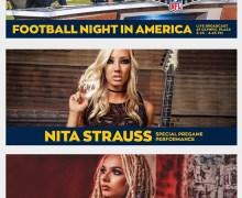 Alice Cooper Guitarist Nita Strauss to Play Sunday Night Football Theme @ Los Angeles Rams Game 2019