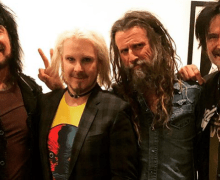 "Rob Zombie w/ Nikki Sixx, John 5, Tommy Lee ""Instant Rock Band "" @ Christmas Party 2019"