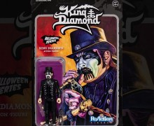 King Diamond Action Figure – ReAction – Super7 – w/ Crossed Bones Mic Stand & Lantern