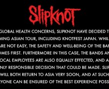 Slipknot Postpone 2020 Asian Tour / Knotfest Tokyo, Japan – Singapore – Jakarta – Manila