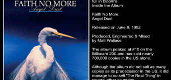 Faith No More 'Angel Dust' Inside the Album with Producer / Engineer Matt Wallace – The full in bloom Interview