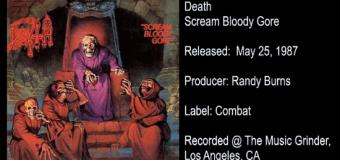 Death 'Scream Bloody Gore' Inside the Album w/ Producer Randy Burns – full in bloom Interivew – Chuck Schuldiner/Chris Reifert