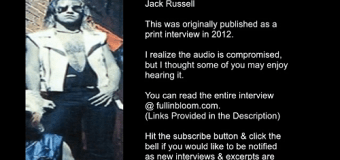 Great White Vocalist Jack Russell talks 1984 Self-Titled Album, Shot in the Dark, Once Bitten, Hooked, Interview Excerpt