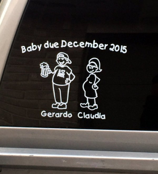 Pregnant Family Decal Gift X-mas