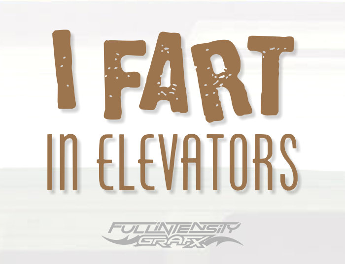 Funny fart decal