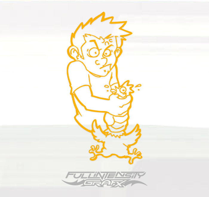 Choking chicken decal sticker