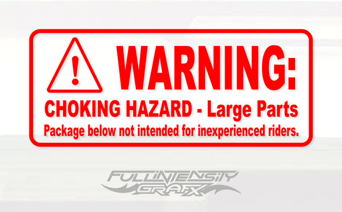 Choking hazard decal sticker