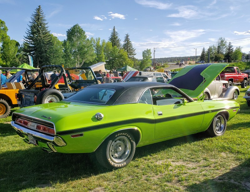 Lime green Challenger R/T Old School