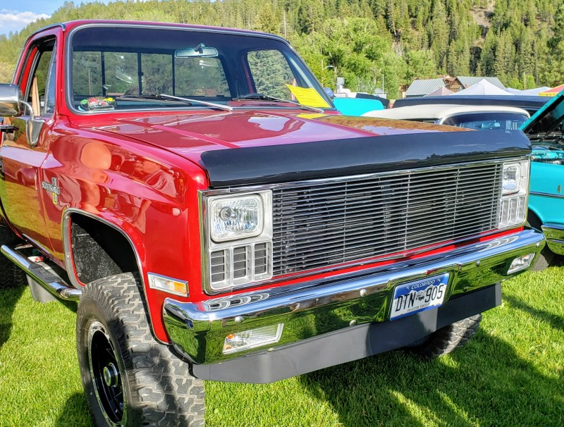 red Chevy Silverado