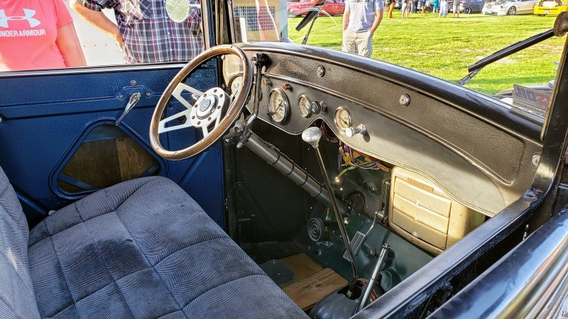 classic interior on old hotrod