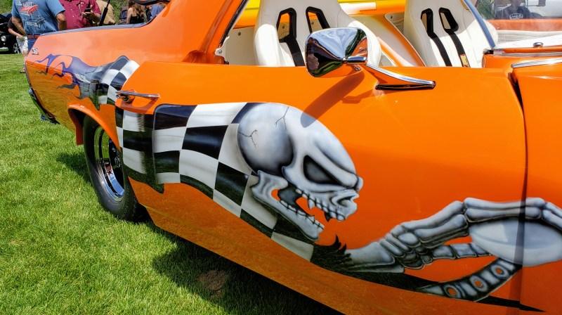 Chevy El Camino Skull checker graphics