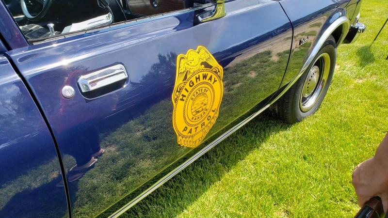 1987 Dodge Diplomat police car door graphics