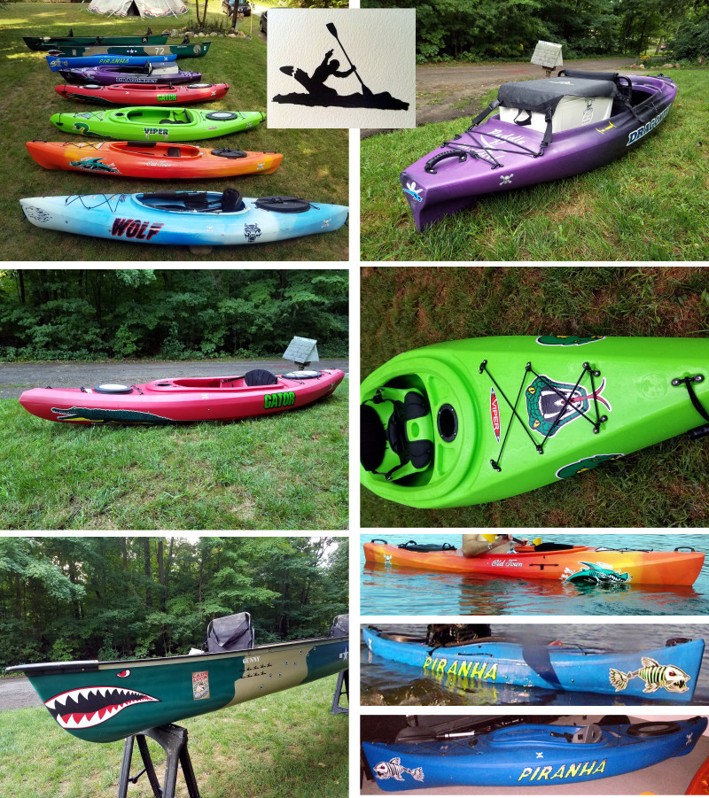 kayak decals canoe stickers