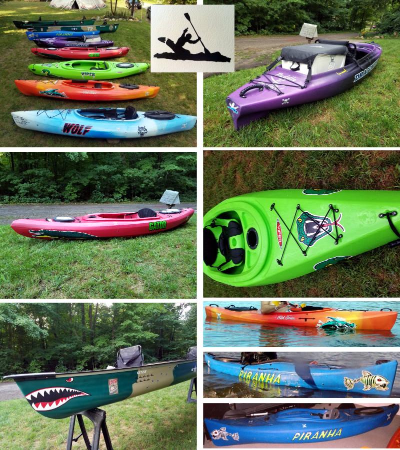 kayak decals canoe stickers