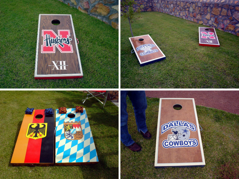 cornhole board decals