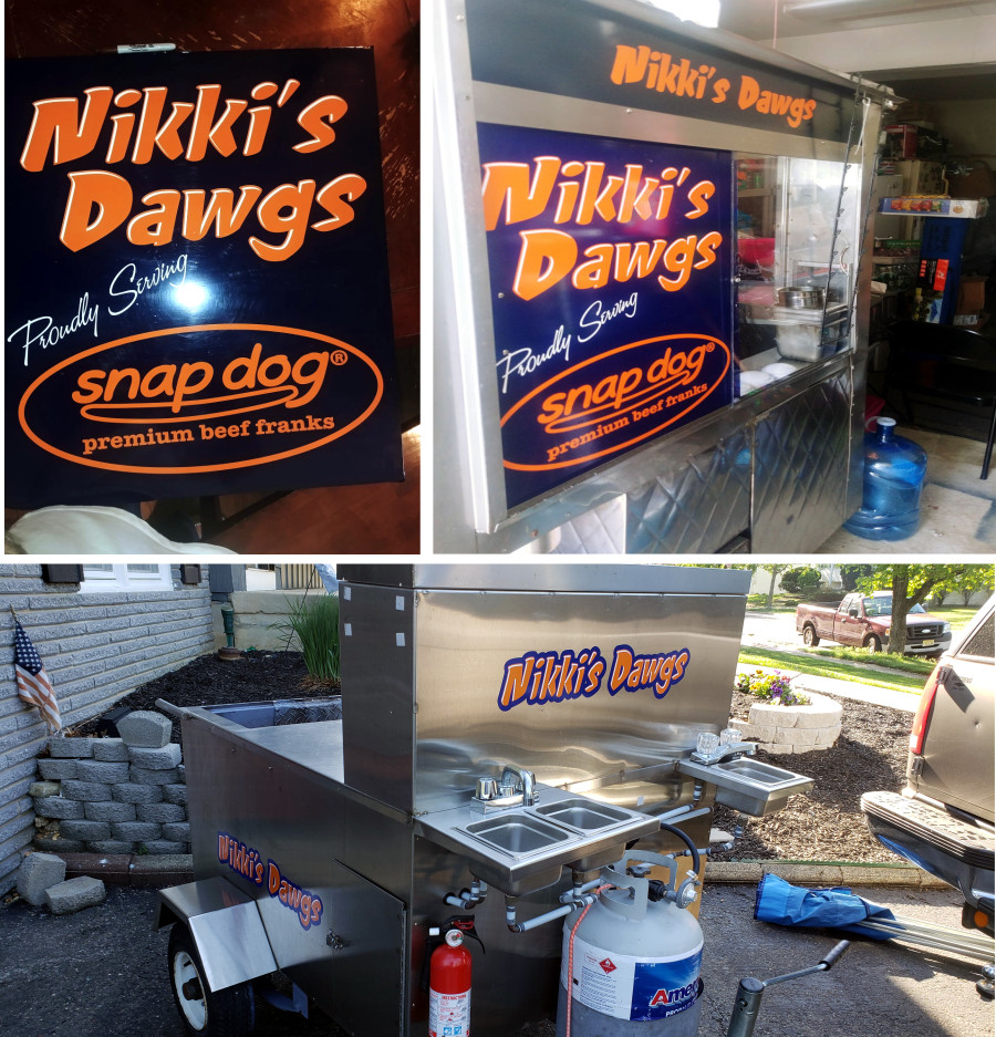 concession trailer decals and lettering logos