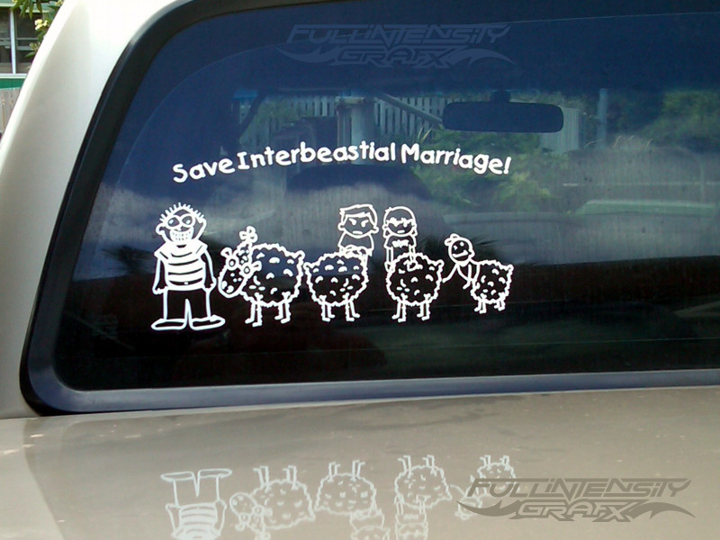weird family sticker
