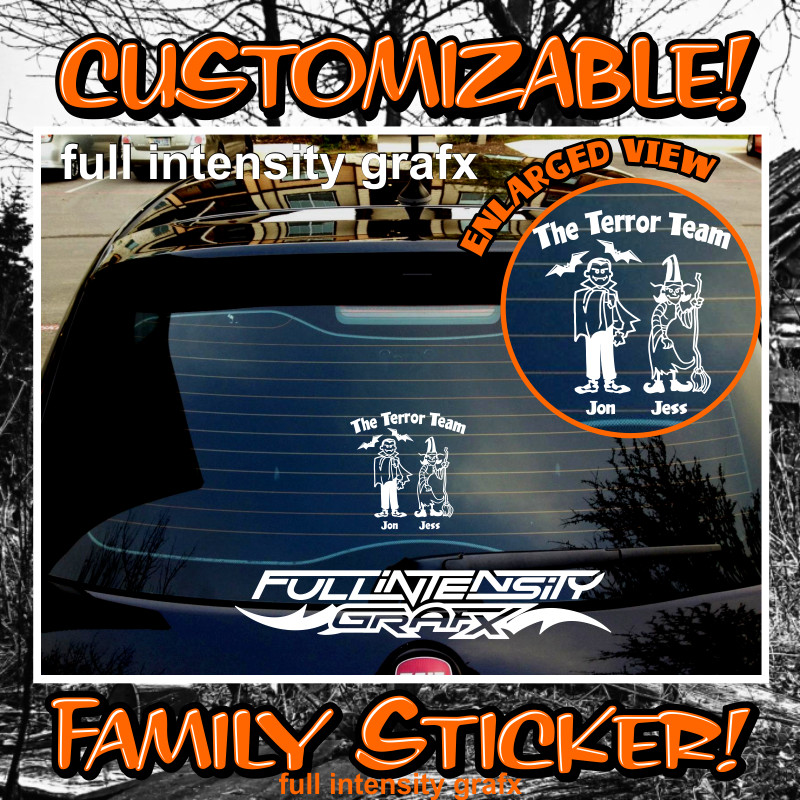Halloween family sticker